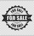 for sale scratch grunge rubber stamp on isolated vector image vector image