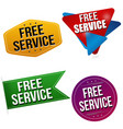 free service sticker or label set vector image vector image