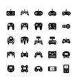 gamepads icon set in flat style symbols vector image vector image