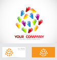 Hands logo vector image