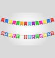 happy birthday inscription text on flags stock vector image