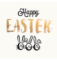 Happy easter cards with easter eggs easter bunny vector image vector image