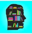 Head Library - flat concept vector image
