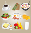 Healthy Foods and Breakfast Set vector image vector image