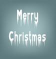 ice lettering merry christmas vector image vector image
