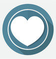 icon human heart on white circle with a long vector image vector image