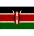 Kenya paper flag vector image vector image