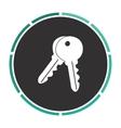Keys computer symbol vector image vector image