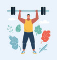 man with a barbell vector image