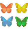 multicolored butterfly vector image vector image