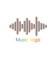 music player logo vector image vector image