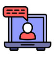 online webinar icon outline style vector image vector image