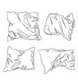 pillow lines vector image