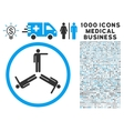Pointing Men Icon with 1000 Medical Business vector image vector image