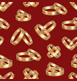 realistic detailed golden wedding rings seamless vector image vector image