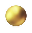 realistic gold metal sphere golden ball vector image