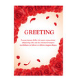 roses greeting card template vector image vector image