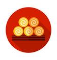 round hay bales icon vector image