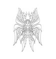 seraph or seraphim a six-winged fiery angel with vector image