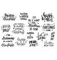 set hand lettering for cards or git tags vector image