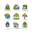 Set of abstract linear logos for construction or
