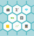 set of finance icons flat style symbols with vector image vector image