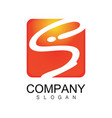 square letter s company logo vector image vector image
