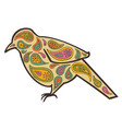 tangle pattern bird vector image vector image
