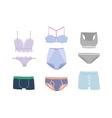 Underwear isolated set vector image vector image