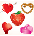 valentine gift hearts vector image vector image