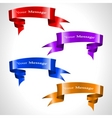 vector colored ribbon stream vector image vector image