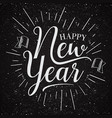 vintage happy new year vector image vector image