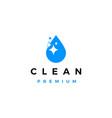 water drop sparkle bright clean logo icon vector image