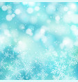 winter white christmas bokeh blue and sparkling vector image vector image