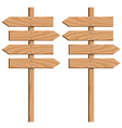 wooden direction arrows vector image vector image