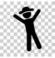 gentleman joy icon vector image