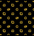 geometric black and gold seamless pattern vector image