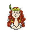 spring girl sketch for your design vector image
