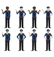 Set of Police men2 vector image