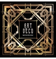 abstract copper art deco style background vector image vector image
