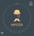 abstract hipster silhouette with bowler hat vector image vector image