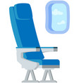 airplane passenger place near window comfortable vector image