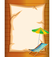 An empty stationery with a beach umbrella vector image vector image