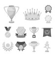 awards and trophies monochrome icons in set vector image
