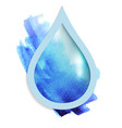 beautiful blue drop vector image vector image