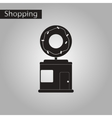 black and white style icon Donut shop vector image vector image