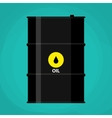 black metal oil barrel with logo icon vector image vector image