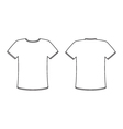 Blank front and back t-shirt design template set vector image vector image