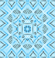 Blue square ethnic pattern vector image vector image