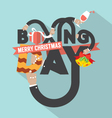 Boxing Day Typography Design vector image